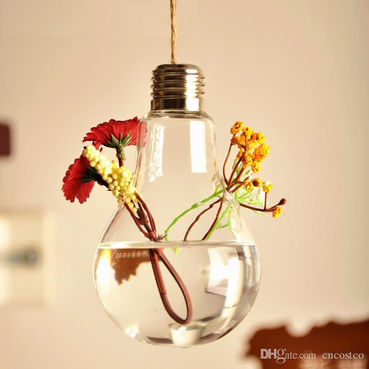 cheap 2016 clear flower pots planters home decor glass vases home decoration hanging bulb vase decorative - Decorative Glass Vases