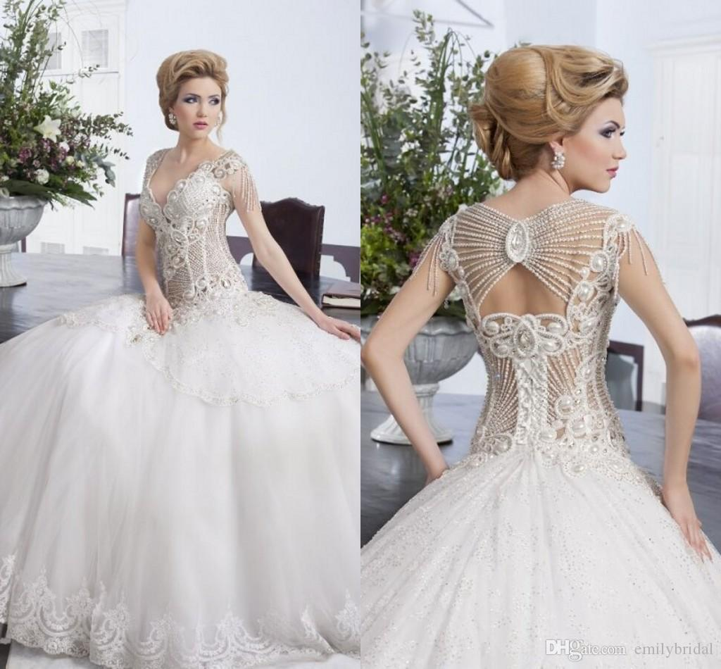 Salon Mona Crystal Princess Wedding Dresses 2016 Spring