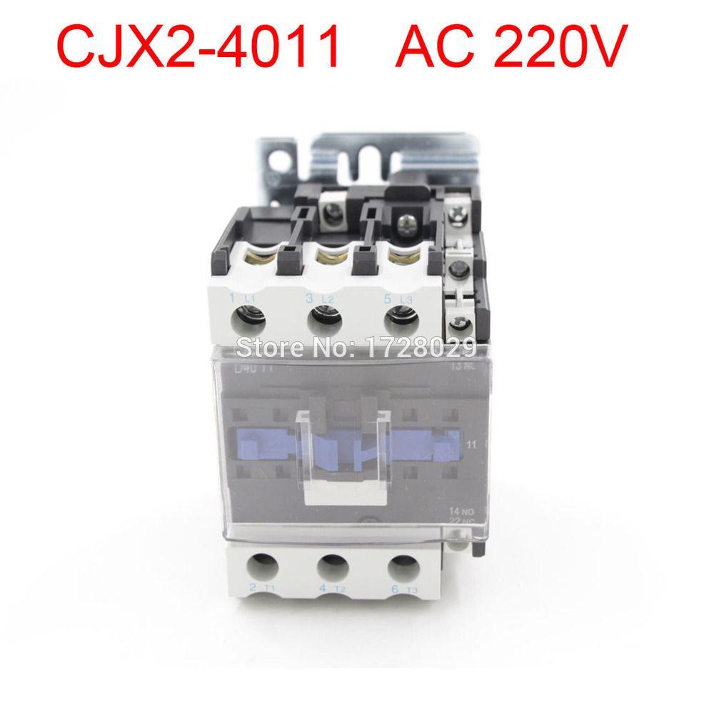 AC Contactor Motor Starter Relay LC CJX NONC V Coil - Relay coil voltage 220v