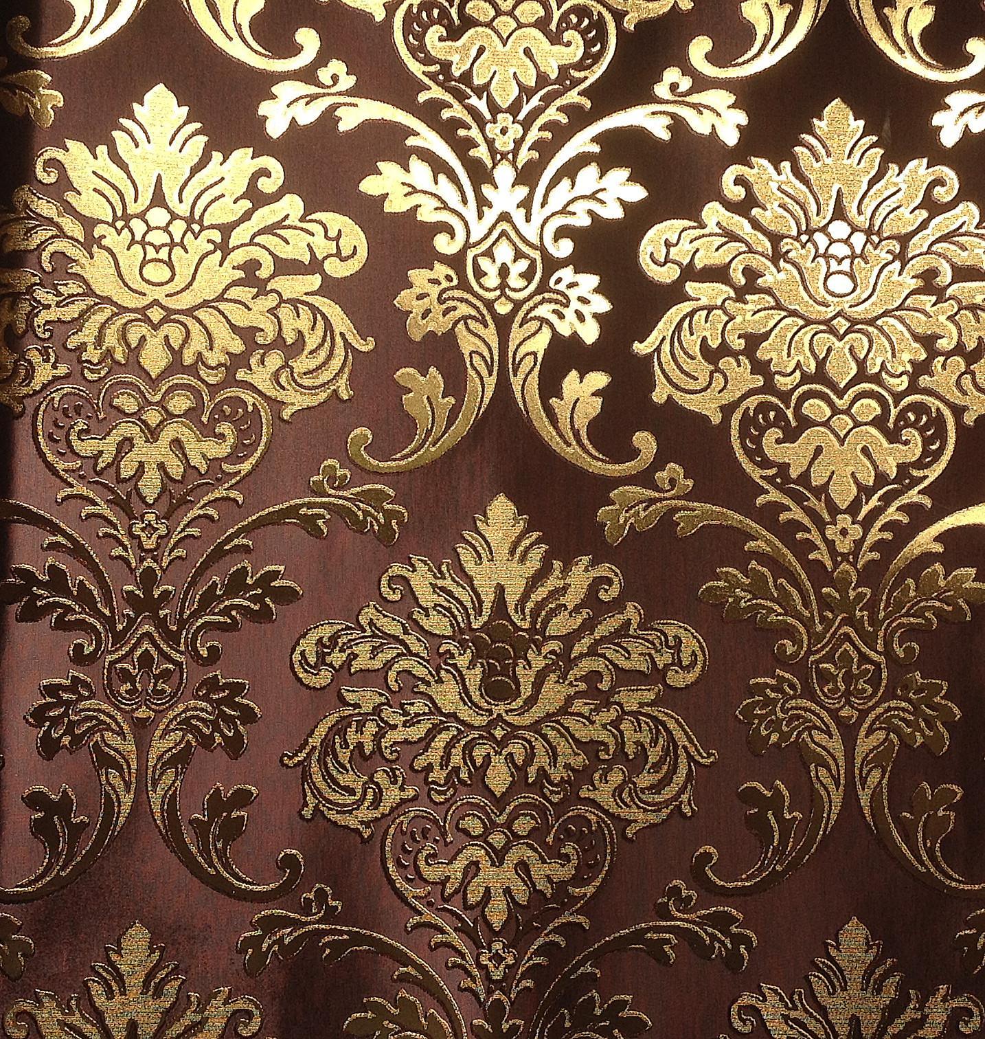 Lt6 60403 Fashion European Modern Style Wall Paper Luxury Vinyl Gold Foil Gold Decorative