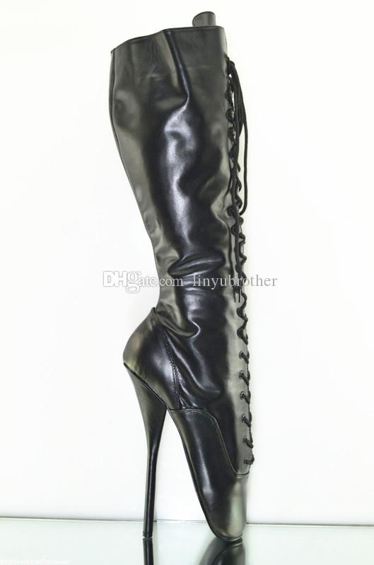 new arrival knee high ballet boots 7 high heel ballet