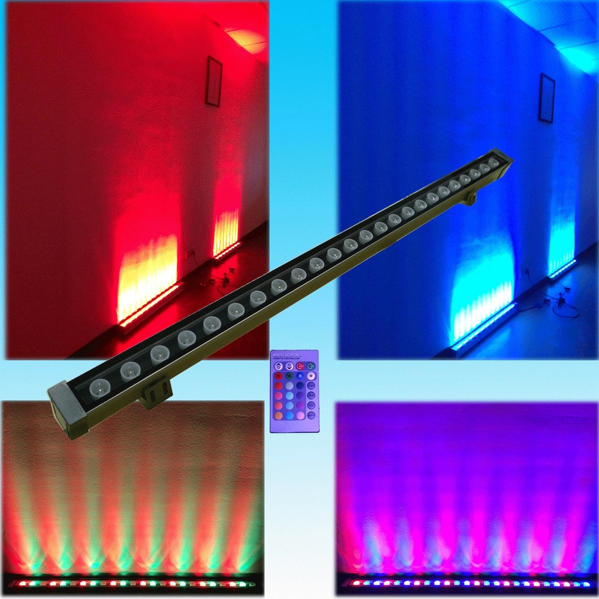 2017 24watt Led Wall Washer Light Rgb Remote Control *1watt Led Building Wall Villa Landscape ...