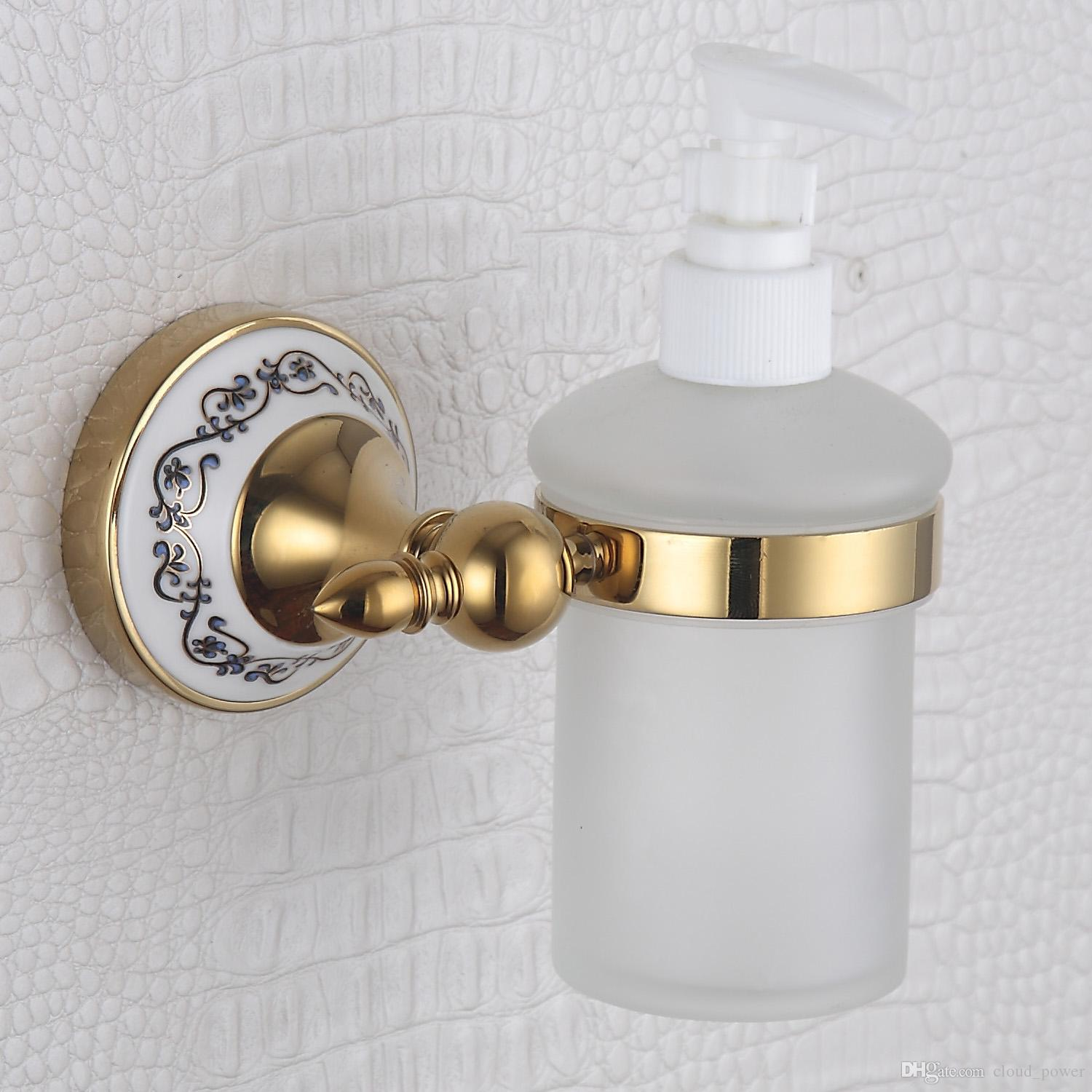 304 Stainless Steel And Copper Liquid Soap Dispenser And Holder