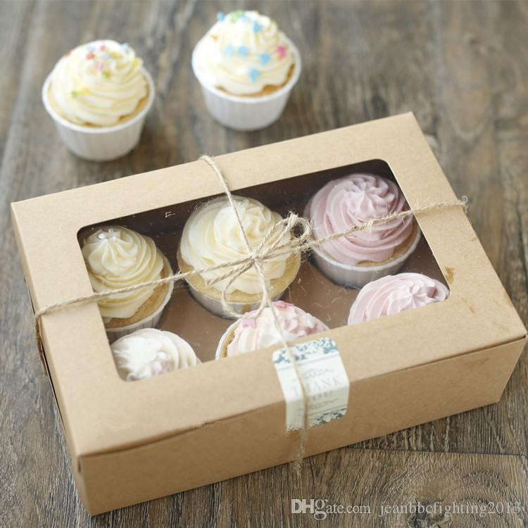 Cupcake Craft Cardboard Paper Box with Handle Gift Cake ...