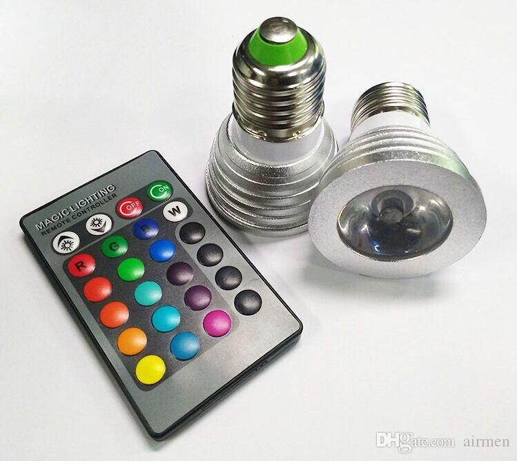 3W LED RGB Ampoule 16 Changement de couleur LED 3W Spotlights RGB LED ampoule la