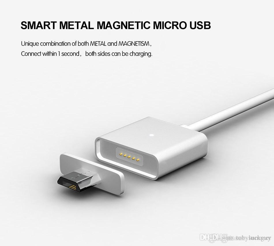 Original WSKEN Universal Metal Magnetic Micro USB Data Charger Cable Android Phone Samsung Xiaomi Meizu Huawei HTC Google