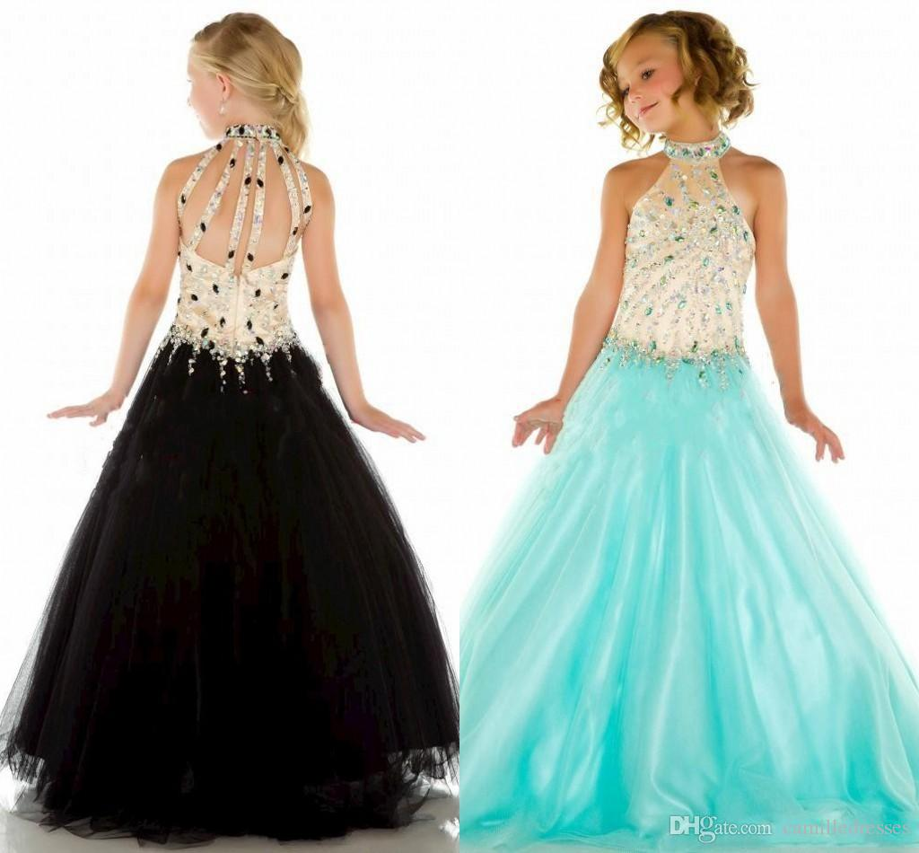 Charming high Neck Pageant Dress Kids Ball Gowns Little Girl'S ...