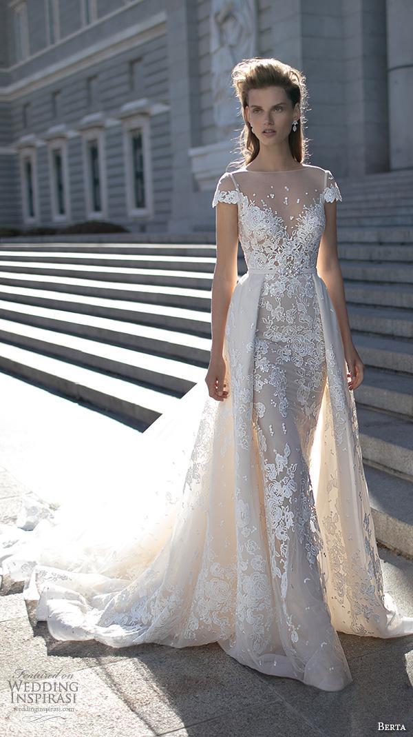 2016 berta bridal over skirts wedding dresses cape sleeves for Dhgate wedding dresses 2016