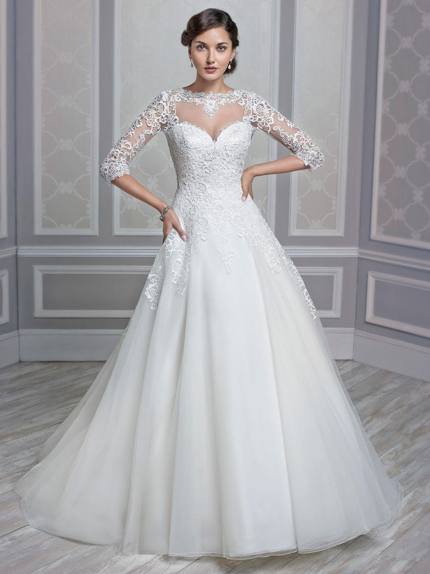 Kenneth winston 2016 muslim wedding dresses sheer high for Kenneth winston wedding dresses