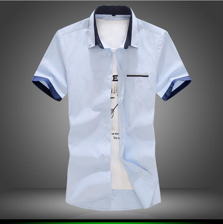 2017 Summer Brand Men Shirts Short Sleeve Dress Fashion Quality ...