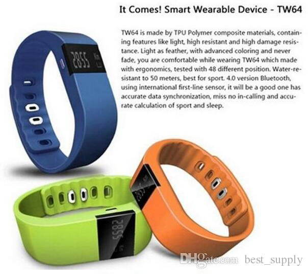 Fitbit fit bit Imperméable IP67 Smart Wristbands TW64 bluetooth fitness tracker