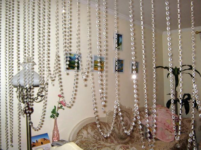 Acrylic Bead Curtain, Upholstery Curtain, Transparent Beads, High ...