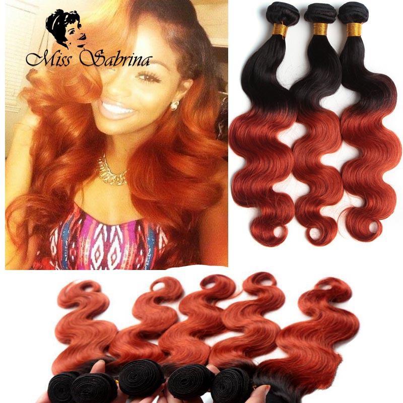 1b 350 Two Tone Brazilian Virgin Hair Weave Honey Blonde