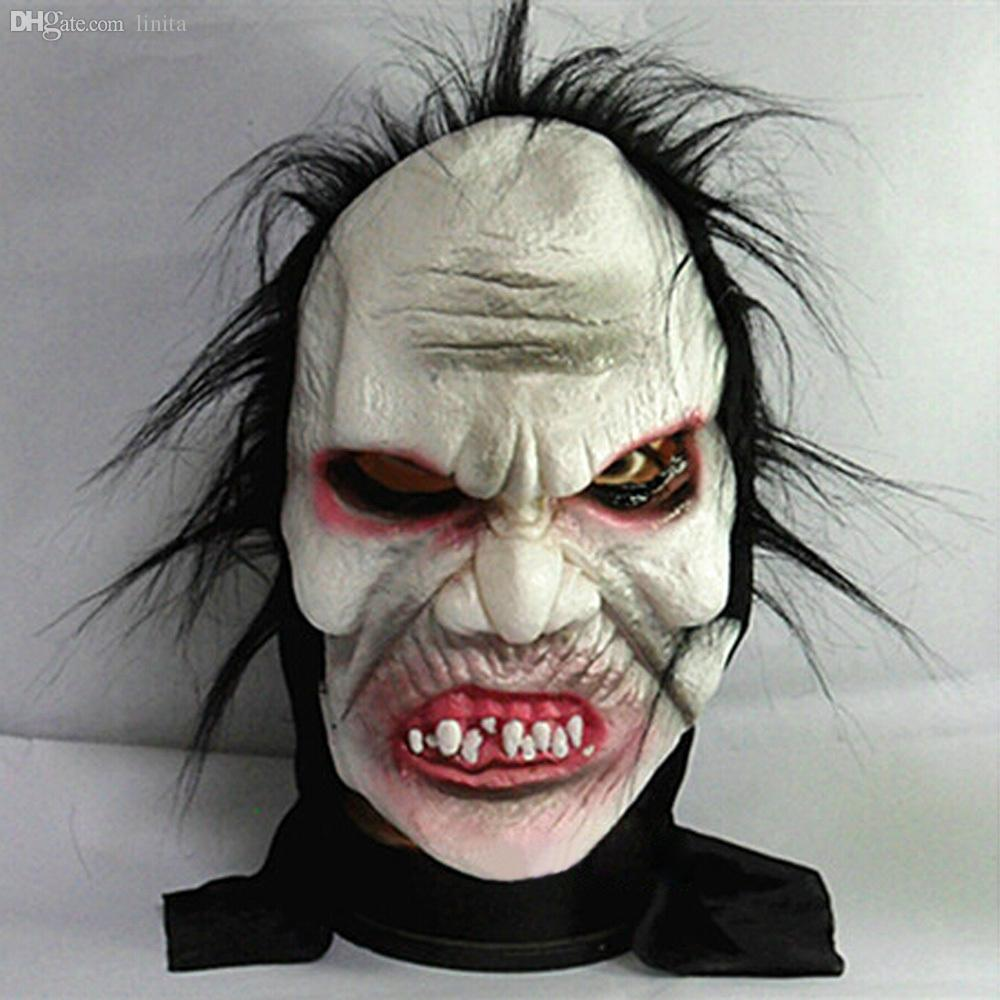 Wholesale Halloween Mask Prank Prop Angry Zombie Full Head Super ...