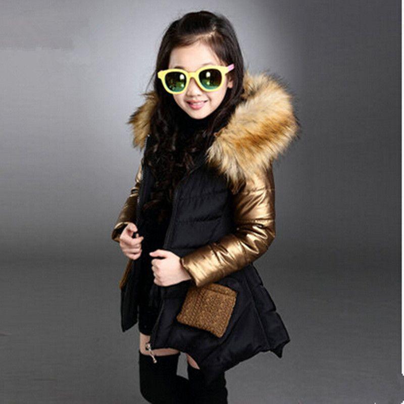 2015 New Winter Fashion Children Clothing Cotton Coat Kids Girls ...