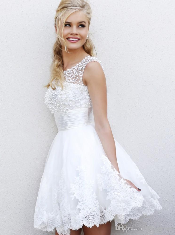 Фото коротких платьев из кружева