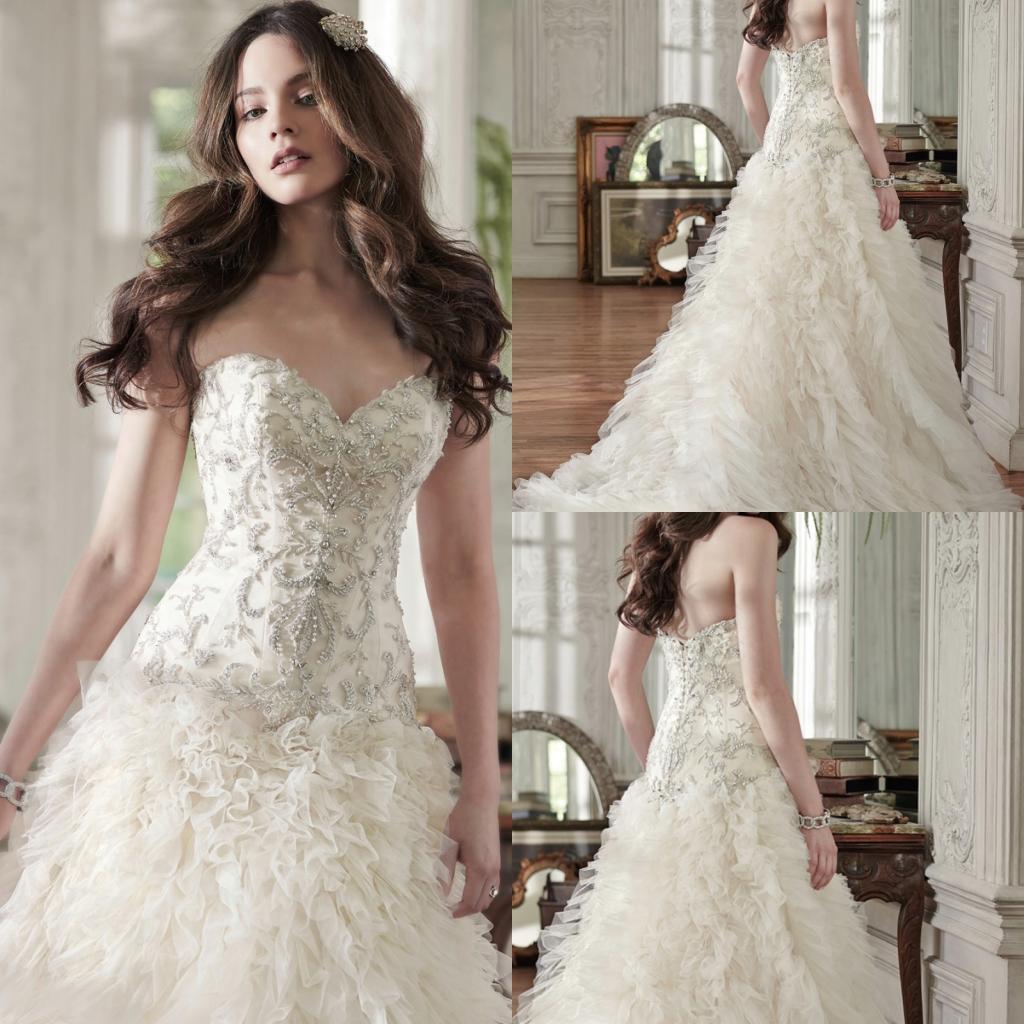 Charming wedding dresses sweetheart luxury beads royal for Rami kadi wedding dresses prices