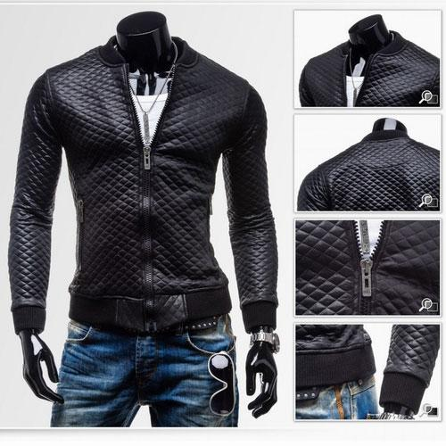 New Fashion Men's Jacket Simple Jacket Motorcycle Jacket Slim Fit ...