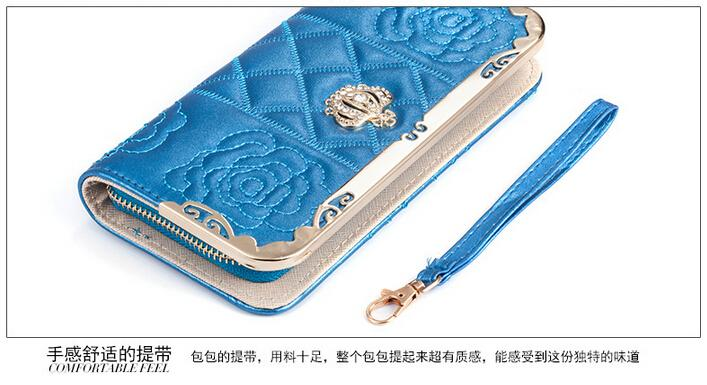 Embroidered Leather Wallet Woman Leather Wallet
