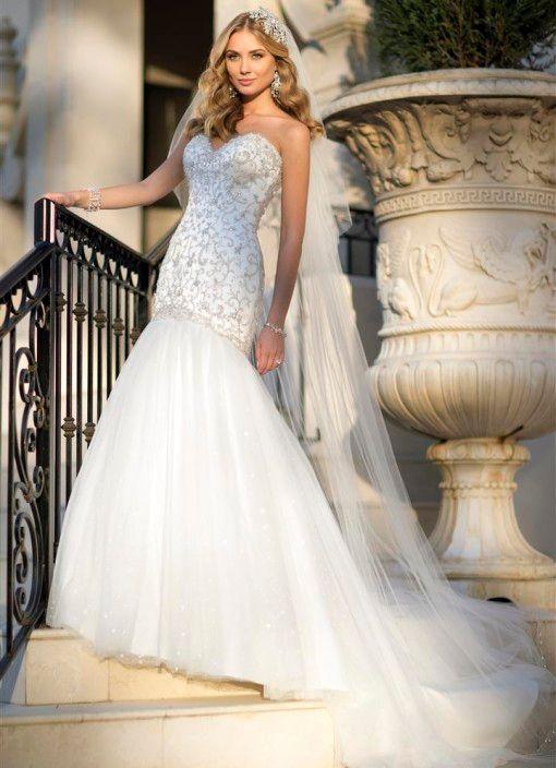 Luxury Wedding Dresses New York : Custom made newest luxurious new york mermaid wedding