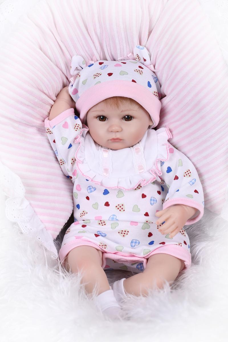Reborn Baby Doll Soft Silicone 18inch 45cm Magnetic Lovely ...