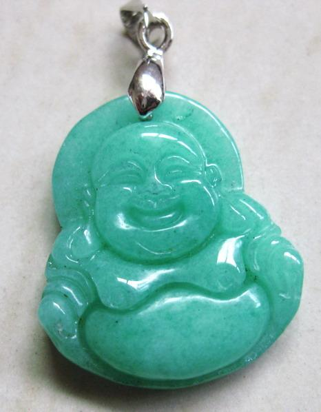 Best smaragdine real stone jade hand carved maitreya for Does buddha bring good luck
