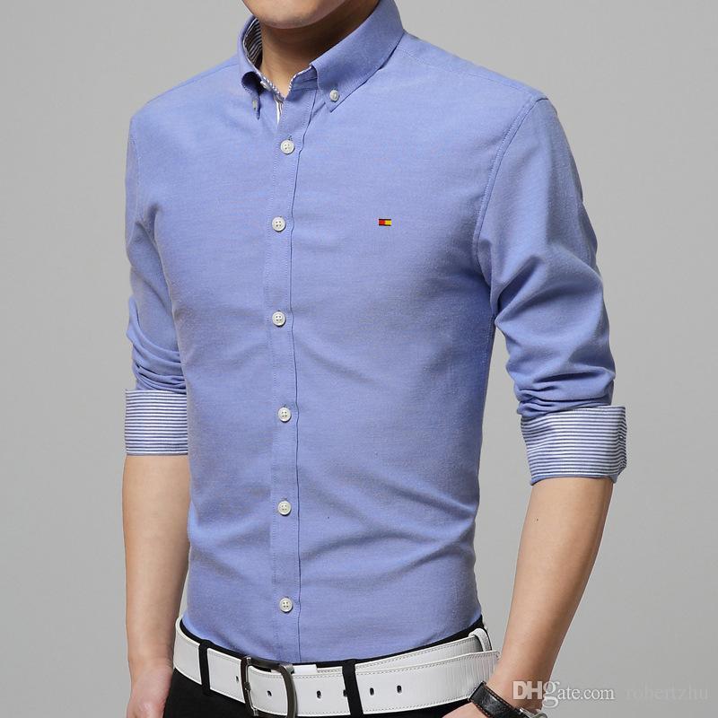 Mens Long Sleeve Casual Cotton Shirts