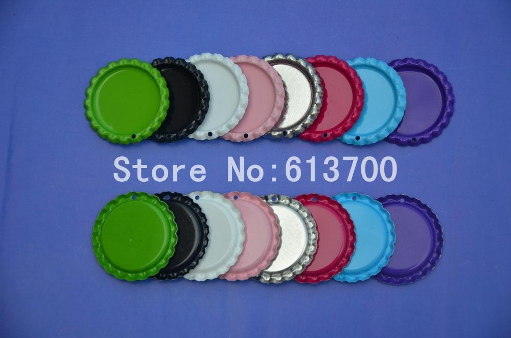 Best quality wholesale both side colored flattened bottle for Wholesale bottle caps for crafts