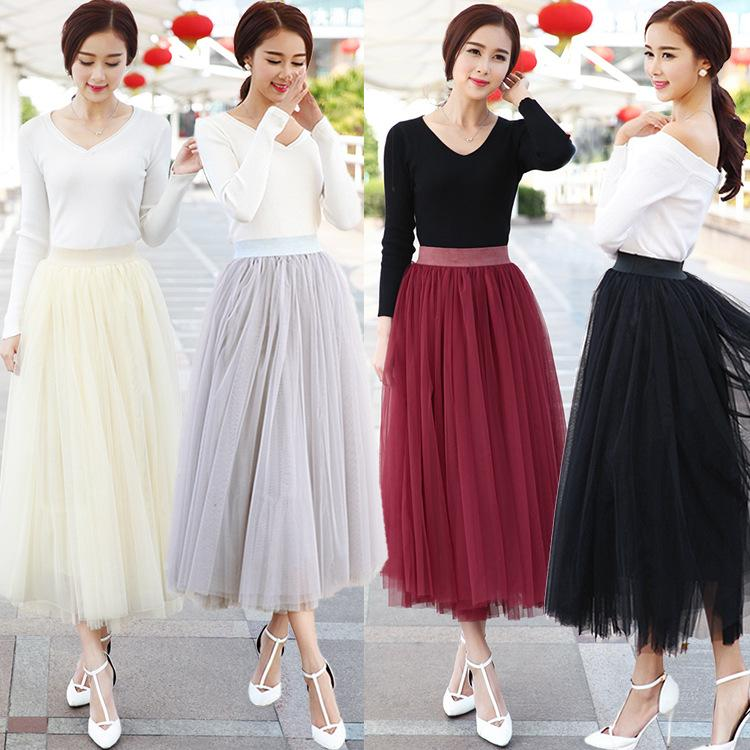 2015 Knee Length White Tulle Tutu Skirts for Adults Custom Made A ...
