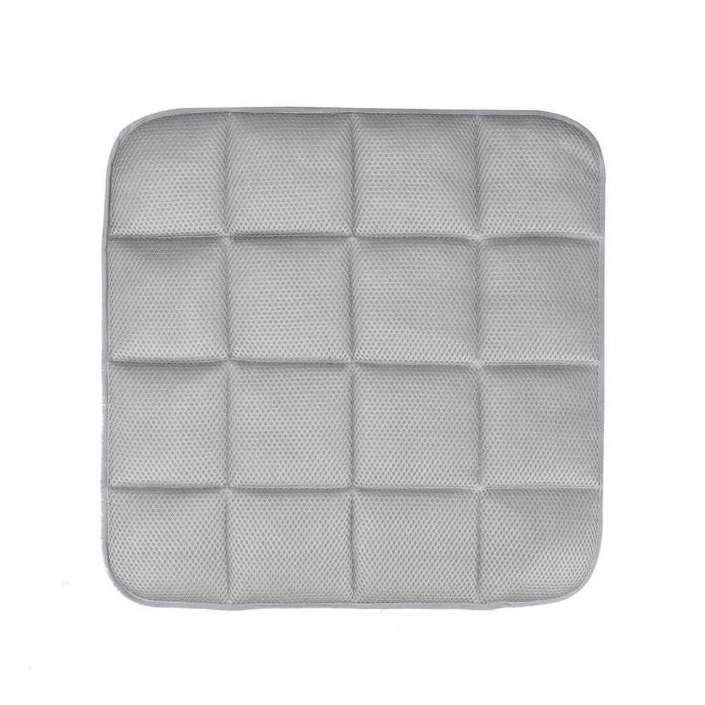 H3r 42cm42cm Bamboo Charcoal Breathable Car Seat Cushion Cover – White Chair Pad