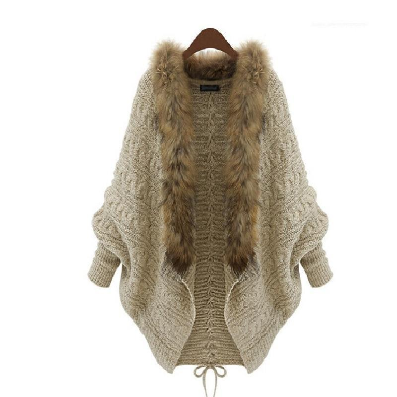 2017 2015 Winter Open Cardigan Poncho Capes Pull Femme Autumn Outwear ...