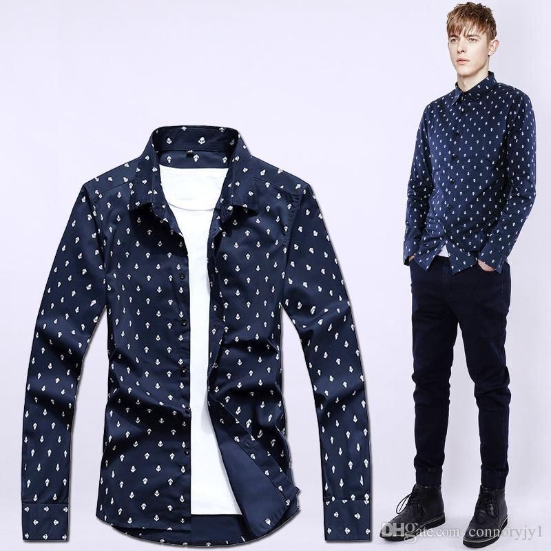 White Shirt Black Dots For Men Online | White Shirt Black Dots For ...