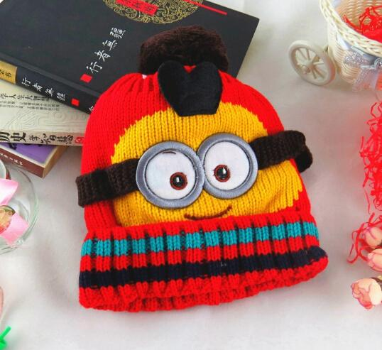 2017 Novelty Kids Despicable Me Hat Minions Knitted Beanies Hot Winter Warm H...