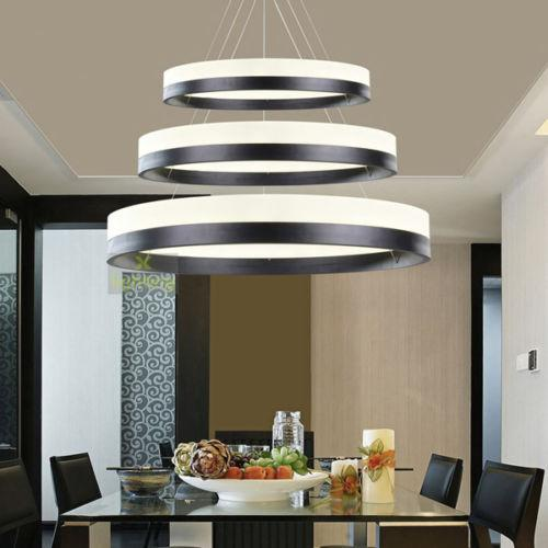 3 rings pendant light circles chandelier dining room for Dining room 3 pendant lights