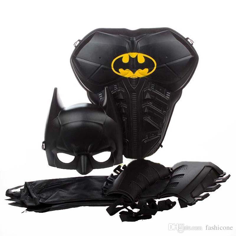 boy kids superman batman mask armor cloak hallowmas props costume cosplay party decor gift toys supplies batman cosplay party decor costume accessories - Costume Props