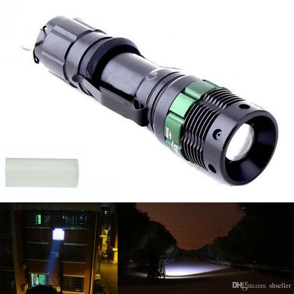 ultrafire 3000 lumen zoomable cree xm l q5 led flashlight torch zoom lamp light black a5 pocket. Black Bedroom Furniture Sets. Home Design Ideas