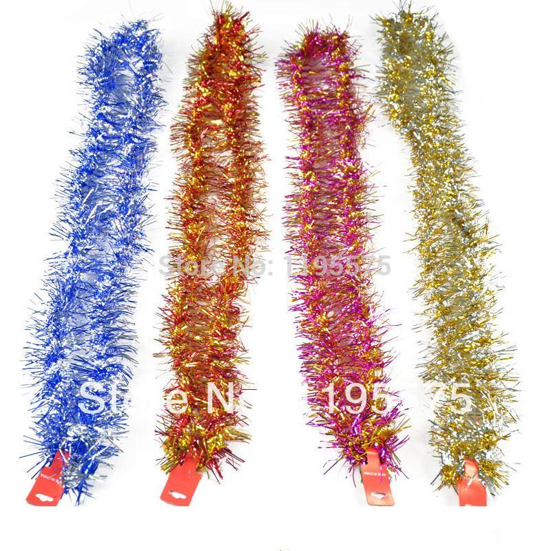 M vintage tinsel garland christmas tree strip home wall