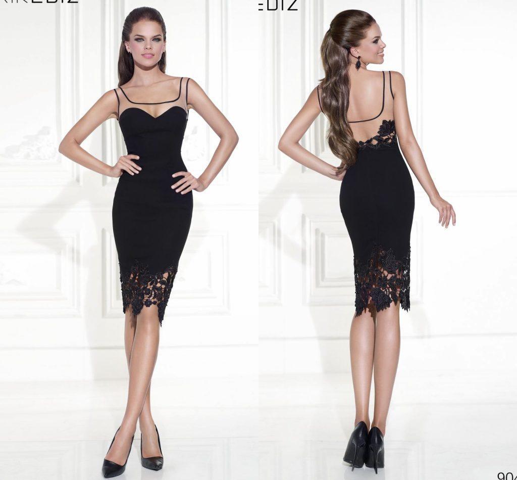 Black Backless Dress Short Cocktail Dresses - Dress images