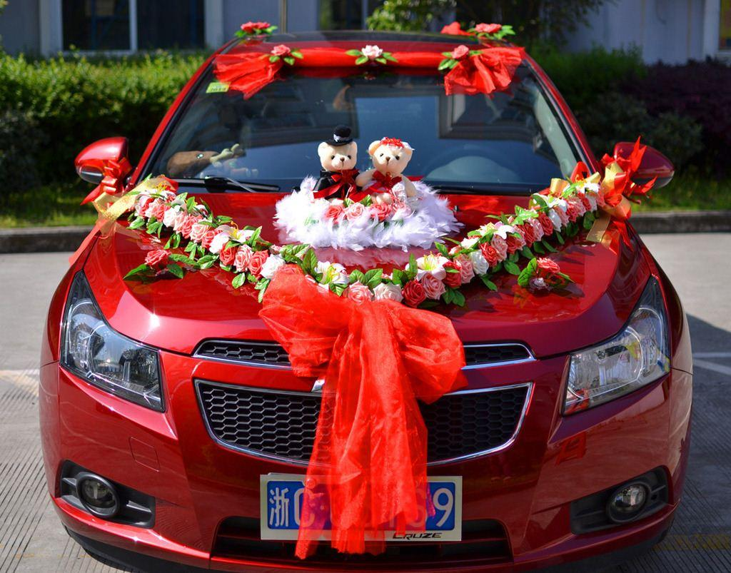 wedding supplies factory outlet d111 hot chinese style gift bear cartoon wedding car decoration. Black Bedroom Furniture Sets. Home Design Ideas