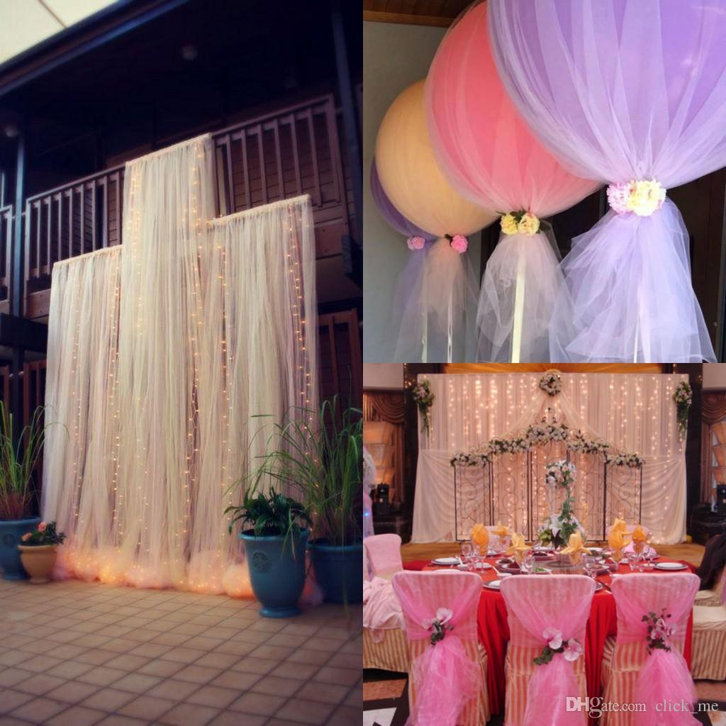 DIY Custom MadeTulle Wedding Decorations Chair Covers Sashes Backdrops Wedding Pew Decorations