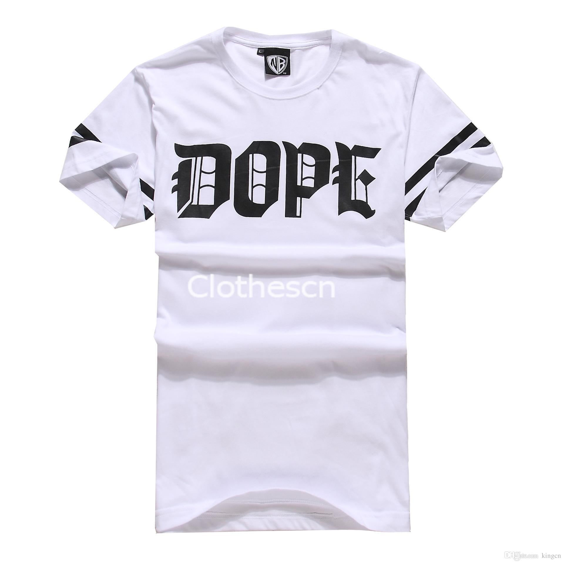 2015 Men Hip Hop Tshirt Cotton Leisure Tee Shirt Simple Design ...