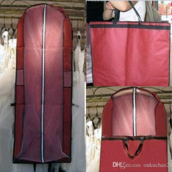 2017 new cheap dust covered wedding dresses gown bag for Wedding dress travel case
