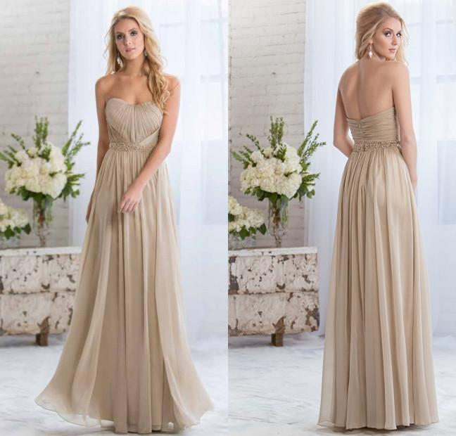 Light Gold 2015 Cheap Bridesmaid Dresses with Sweetheart Plus Size ...