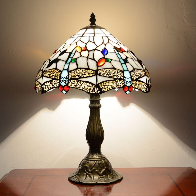 2017 12 inch tiffany table lamp with stained glass with for 12 inch high table