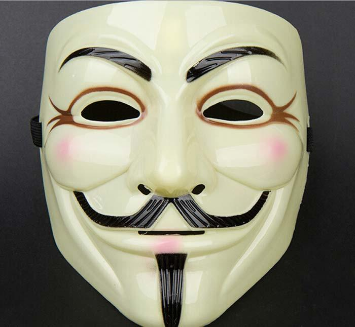 high quality v for vendetta yellow mask with eyeliner