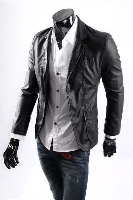 Men Winter Leather Jackets Wholesale Hot New Style Leather Coat ...