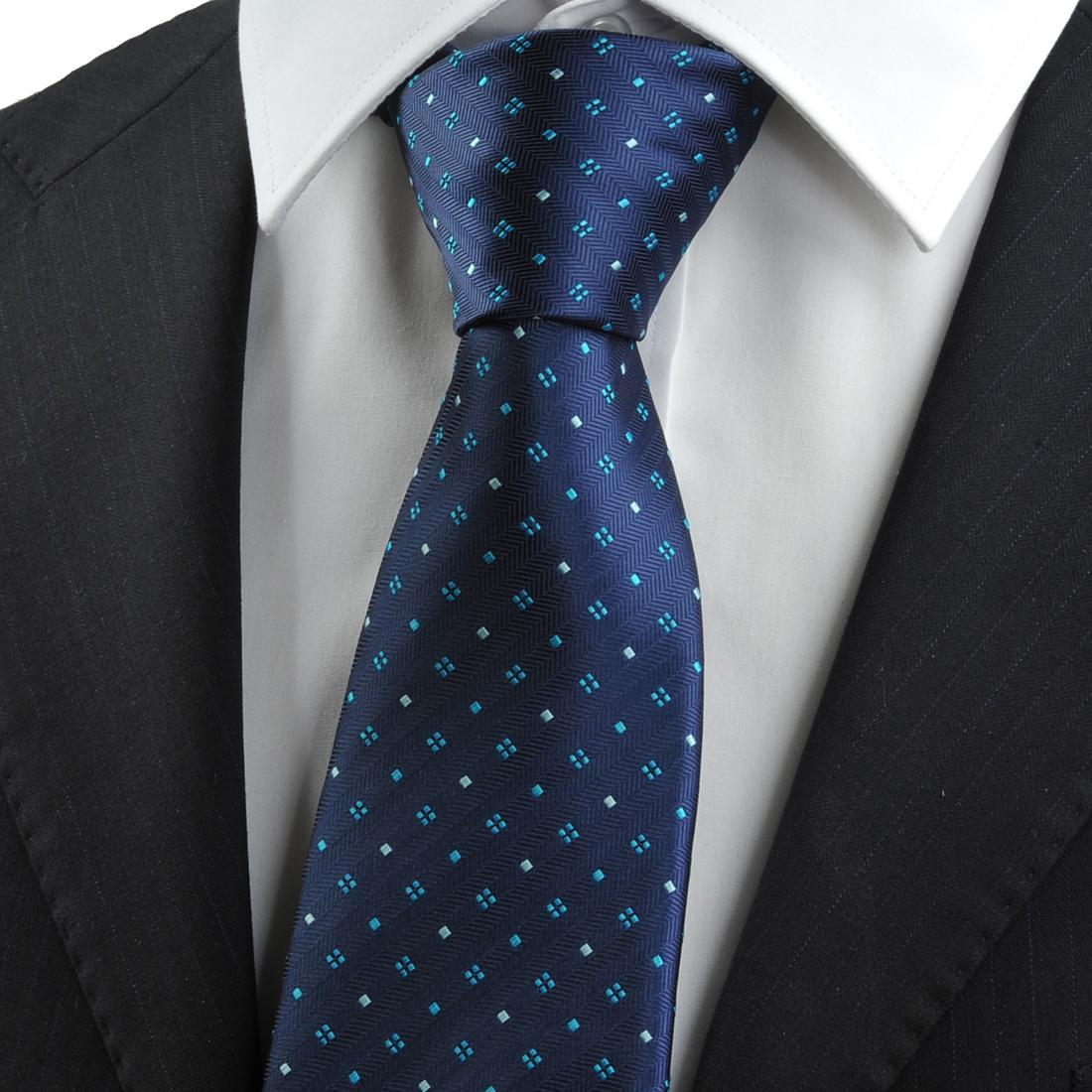 new tie modern design green checked pattern navy 8 5cm