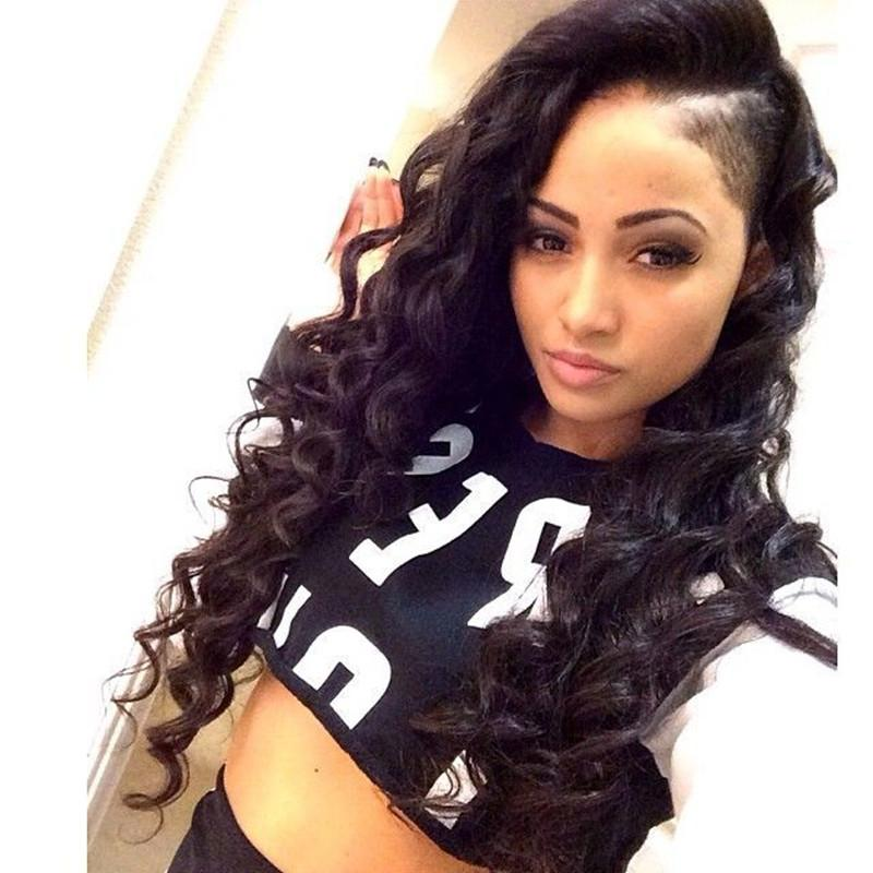 Black Lace Front Wig Unprocessed Thick And Soft Tangle