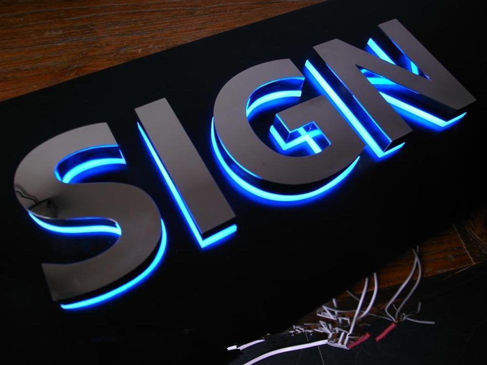 2017 Customized Logotype Led Illuminated 3d Channel