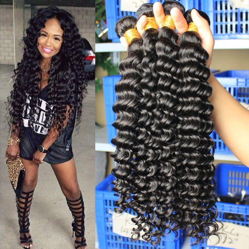 Awe Inspiring Us Stock 6A Bohemian Curly Hair Weaves Bohemian Deep Curly Wave Hairstyle Inspiration Daily Dogsangcom